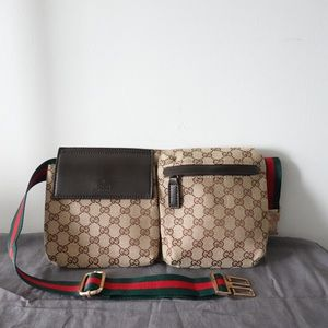 Gucci supreme waist bag